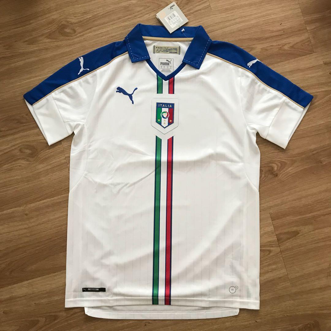 the latest e397e 7c9e2 100% AUTHENTIC Italy Away Soccer Jersey 2016