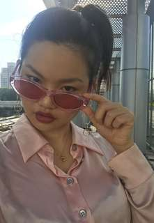 Quay x Kylie As If! Pink Cateye Sunnies