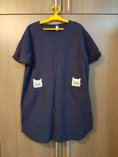 Casual Dress with Cat design