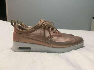 NIKE AIRMAX THEA Rose Gold Size 6