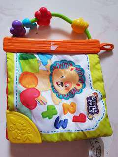 Babies toy with teether