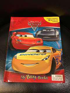 CARS My Busy Book w/ 12 Toys