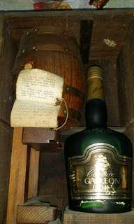 绝版拿破倫干色EXTRA大号連原裝酒桶收藏木盒