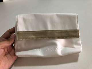BN Clarins White Make Up Pouch