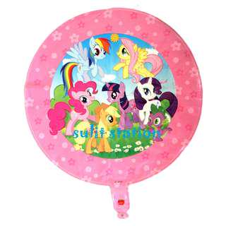 MLP MY LITTLE PONY PARTY FOIL MYLAR ROUND BALLOONS giveaways souvenirs giveaways favor needs