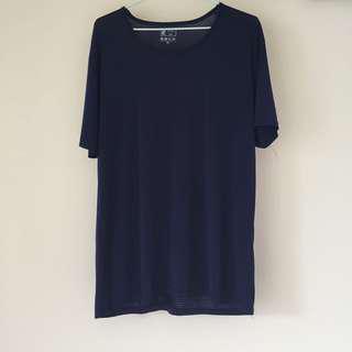 親密寶貝親膚排汗衫(深藍)