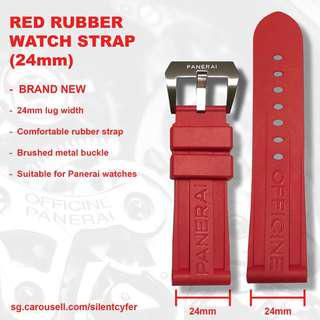 BN Red Rubber Watch Strap