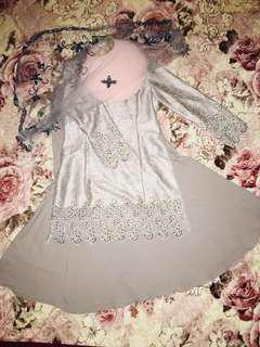 Baju pengantin Silver grey Set [Plus Size] [RENT/SELL]