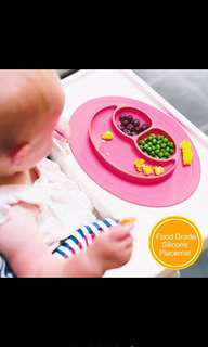 Mini Size Smile Baby Silicone Placemat Divided Dish Bowl Plates Food Grade