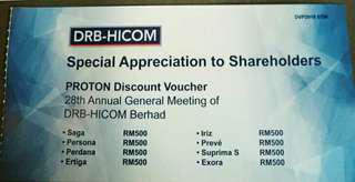 Proton car discount voucher