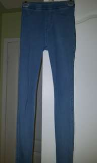 H&M blue jeggings