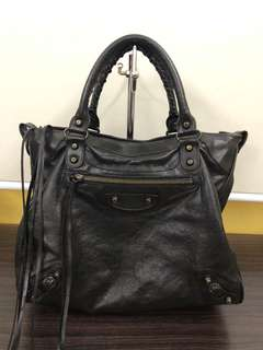 Authentic Balenciaga Velo Regular Hardware in Black