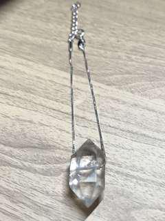 閃靈鑽925銀手鍊  Herkimer Diamond