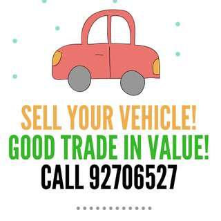 Sell Your Vehicles With Good Price!
