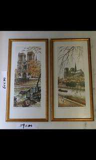 兩幅  西班牙畫家