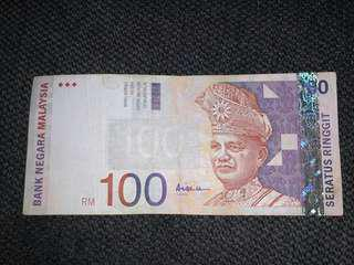 RM100 Banknote
