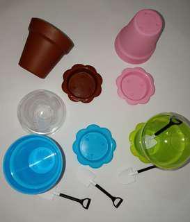 🚚 Plastic dessert mousse pudding jelly cup pot 3set