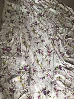 Rustic flowers curtains