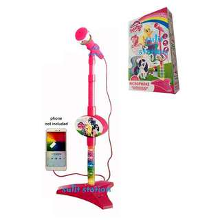 MLP MY LITTLE PONY MIC MICROPHONE with STAND with MP3 JACK TOYS