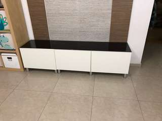 TV Console with glass top