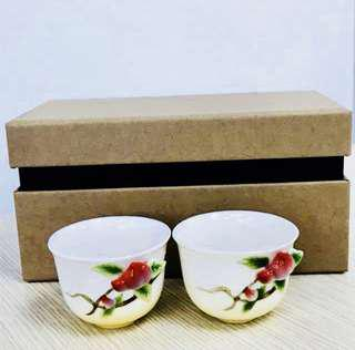 Longevity Peach teacups