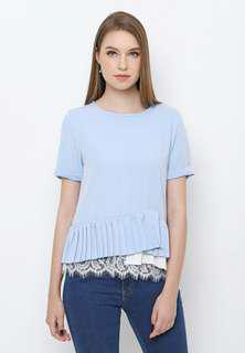 Chocochips lace top in blue