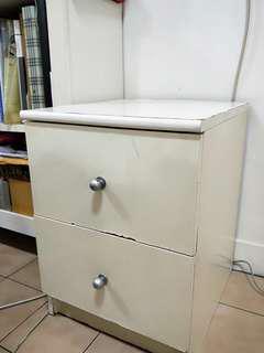IKEA白色雙層矮櫃,高雄市面交