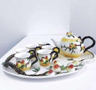 Longevity Peach tea set
