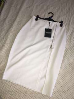 Misguided skirt with split