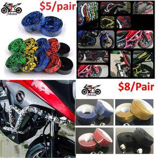 Motorbike / Motorcycle / Bicycle / Bike / Crash Bar / Handlebar Tapes carbon color deisgn