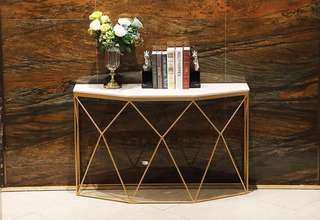 #Decor Marble Top Entrance Table