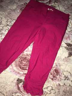 Semi long lacey pants magenta [PLUS SIZES]