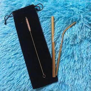 Gold Metal/Steel Straw