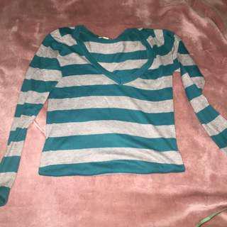 Stripes Baju tangan panjang fit to S-L