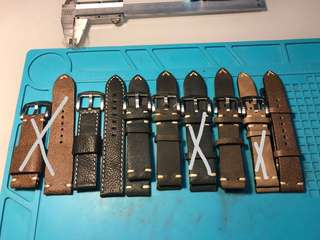 Loose items for clearance, calf leather straps