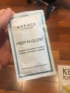 Nuface prep n glow cleanse dual sided cloth