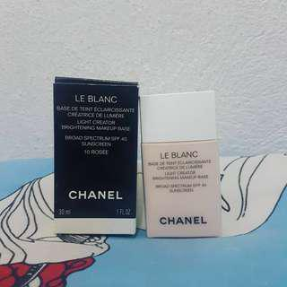 CHANEL LE BLANC BRIGHTENING MAKE UP BASE IN ROSEE