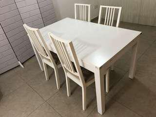IKEA Extendable Dining Table & Chairs Set
