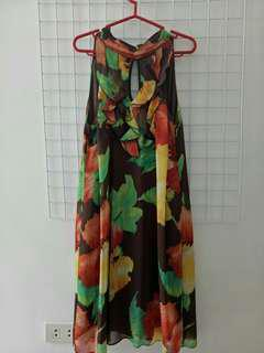 AGB Dress - sleeveless floral dress with cut-outs