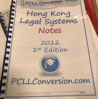 PCLL Conversion Legal System