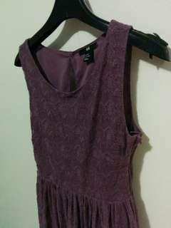 Purple dress size: xs