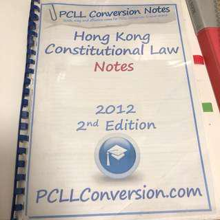 PCLL Conversion Constitutional Law
