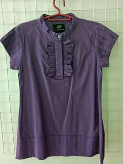 Amanda's Place - Violet short sleeve blouse