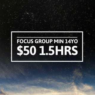 Focus Group Survey $50