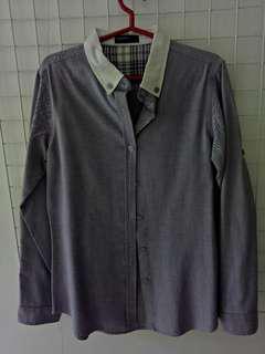 SM Woman - Lavender Long sleeve button-down shirt