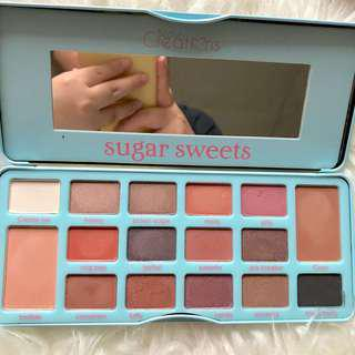 Beauty creations sugar sweets palette- bekas swatch / tutup patah separo