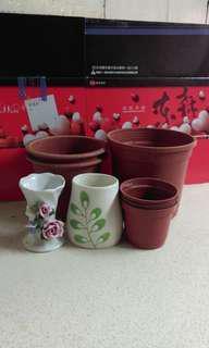 🚚 二手小花瓶、盆栽8件組