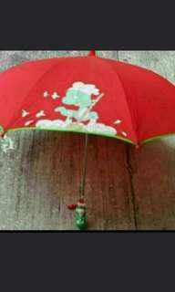 紅色卡通公仔自動雨傘啱小朋友用易開不夾(傘可寫名班別資料)