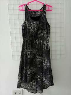 High low black sleeveless dress