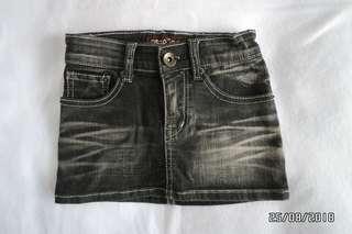 Girl's black denim skirt